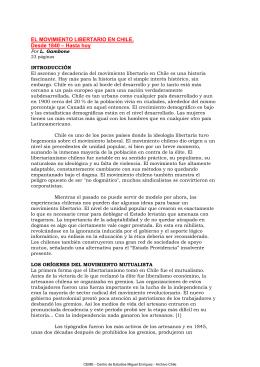 El movimiento libertario en Chile. L. Gambone
