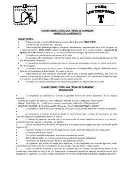 """IV MARATON DE FÚTBOL SALA """"PEÑAS DE TARANCÓN"""