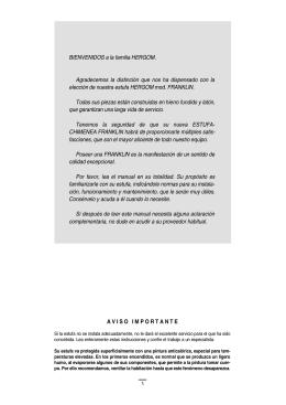 Manual de Instrucciones, Instalación y Mantenimiento