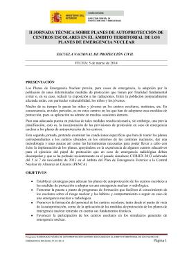 Programa - Dirección General de Protección Civil y Emergencias