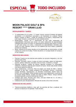 MOON PALACE GOLF & SPA RESORT ***** GRAN LUJO