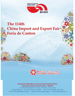 The 114th China Import and Export Fair Feria de Canton