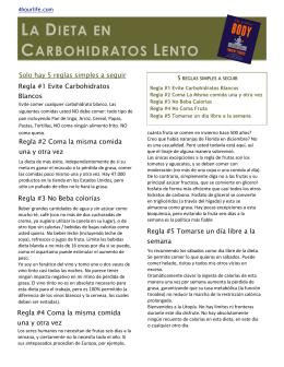 LA DIETA EN CARBOHIDRATOS LENTO