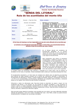 """""""SENDA DEL LITORAL"""" Ruta de los acantilados del monte Ulía"""