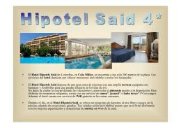 • El Hotel Hipotels Said de 4 estrellas, en Cala Millor