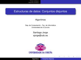 Estructuras de datos: Conjuntos disjuntos