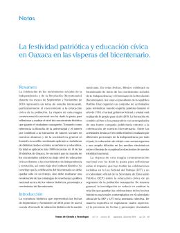 La festividad patriótica y educación cívica en Oaxaca en las
