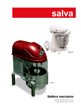 Salva Group Tabletop Blender and Mixer Catalogue
