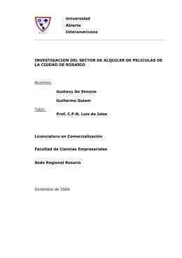 INVESTIGACION DEL SECTOR DE ALQUILER DE