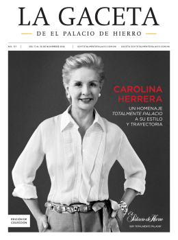 CAROLINA HERRERA - La Gaceta PH