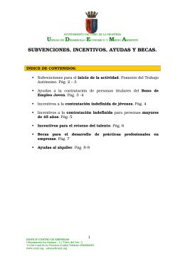 Ayudas y Subvenciones - Ayuntamiento de Conil de la Frontera