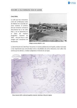 Historia de la Calle Marquesa Viuda de Aldama