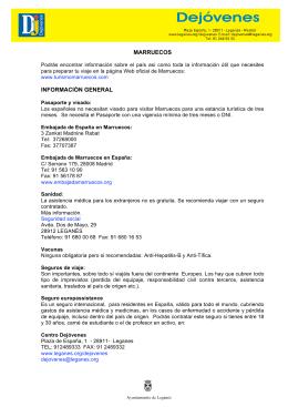 MARRUECOS INFORMACIÓN GENERAL