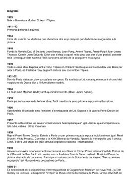 Biografia 1925 Neix a Barcelona Modest Cuixart i Tàpies. 1941