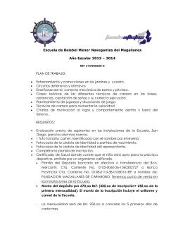 Escuela de Beisbol Menor Navegantes del Magallanes Año Escolar