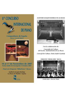 8º CONCURSO INTERNACIONAL DE PIANO