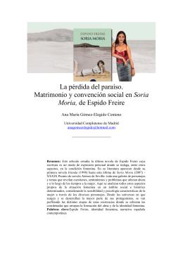 La pérdida del paraíso. Matrimonio y convención social en Soria