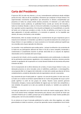Informe anual y de Responsabilidad corporativa 2011.