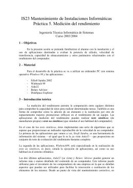 IS23 - Mantenimiento de Instalaciones Informáticas
