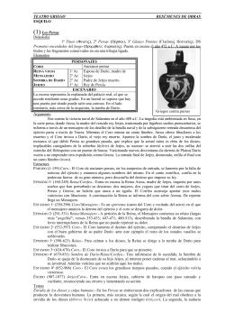 TEATRO GRIEGO RESÚMENES DE OBRAS ESQUILO (1) Los