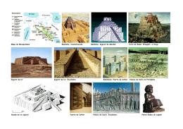 Mapa de Mesopotamia Babilonia, reconstrucción Babilonia. Zigurat