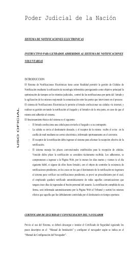 Notificaciones Electrónicas - Poder Judicial de la Nación