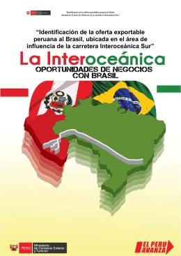 """"""" Identificación de la oferta exportable peruana al Brasil, ubicada en"""
