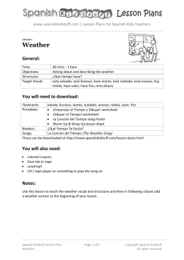 Weather - Spanish KidStuff