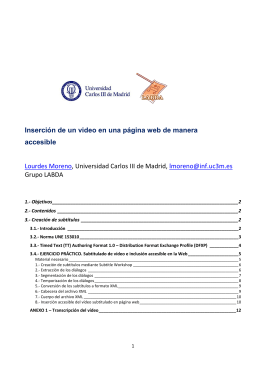 3.- Creación de subtítulos - Universidad Carlos III de Madrid