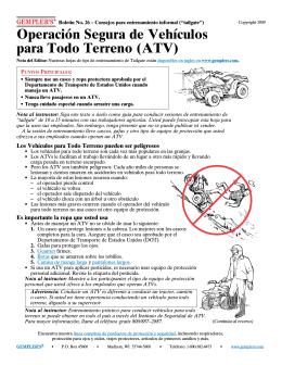 Operación Segura de Vehículos para Todo Terreno (ATV)