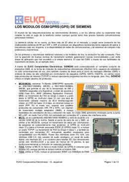 LOS MODULOS GSM/GPRS/(GPS) DE SIEMENS