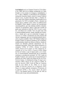 Luis Buñuel nació en Calanda (Teruel) el 22 de