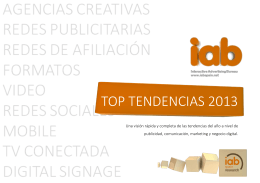 TOP TENDENCIAS 2013