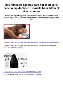 #Z remedios caseros para hacer crecer el cabello rapido