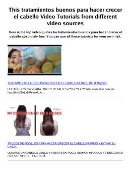 Z tratamientos buenos para hacer crecer el cabello PDF