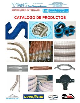 CATALOGO DE PRODUCTOS - Tubos Mangueras y Conexiones