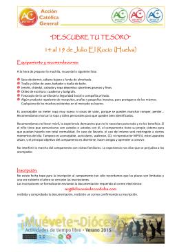 14 al 19 de Julio El Rocío (Huelva)