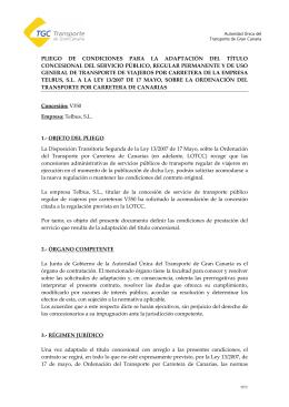 Concesión Telbus, S.L. - Autoridad Única del Transporte de Gran