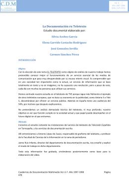 La Documentación rn Teletexto