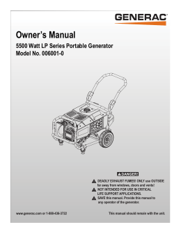 Owner`s Manual - Northern Tool + Equipment