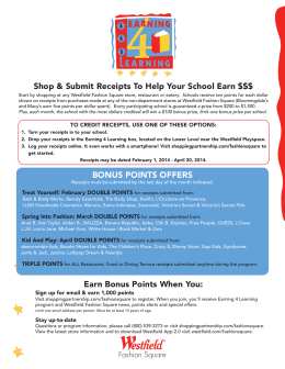 Shop & Submit Receipts To Help Your School Earn $$$ Earn Bonus