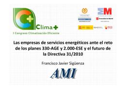 Las empresas de servicios energéticos ante el reto de los planes