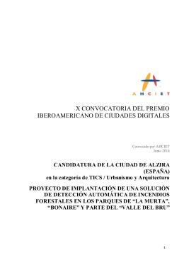 Anexo I. Proyecto premiado Ayuntamiento ALZIRA_Premios Ahciet