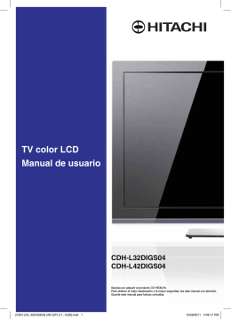 Manual de usuario TV color LCD