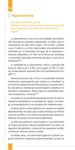 3. Hipernatremia - Asociación Colombiana de Endocrinología