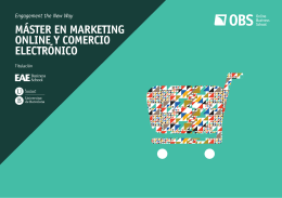 Descargar programa  - Máster en Marketing Online y Comercio