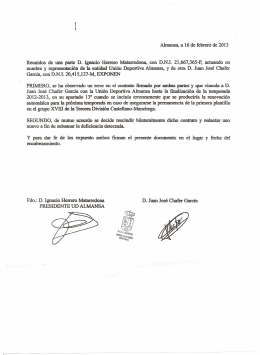 PRESIDENTE UD ALMANSA
