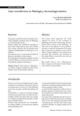 Láser transdérmico en flebología y dermatología estética.