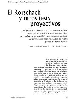 El Rorschach y otros Tests Proyectivos