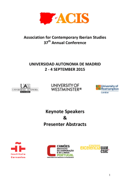 Abstracts - Association for Contemporary Iberian Studies